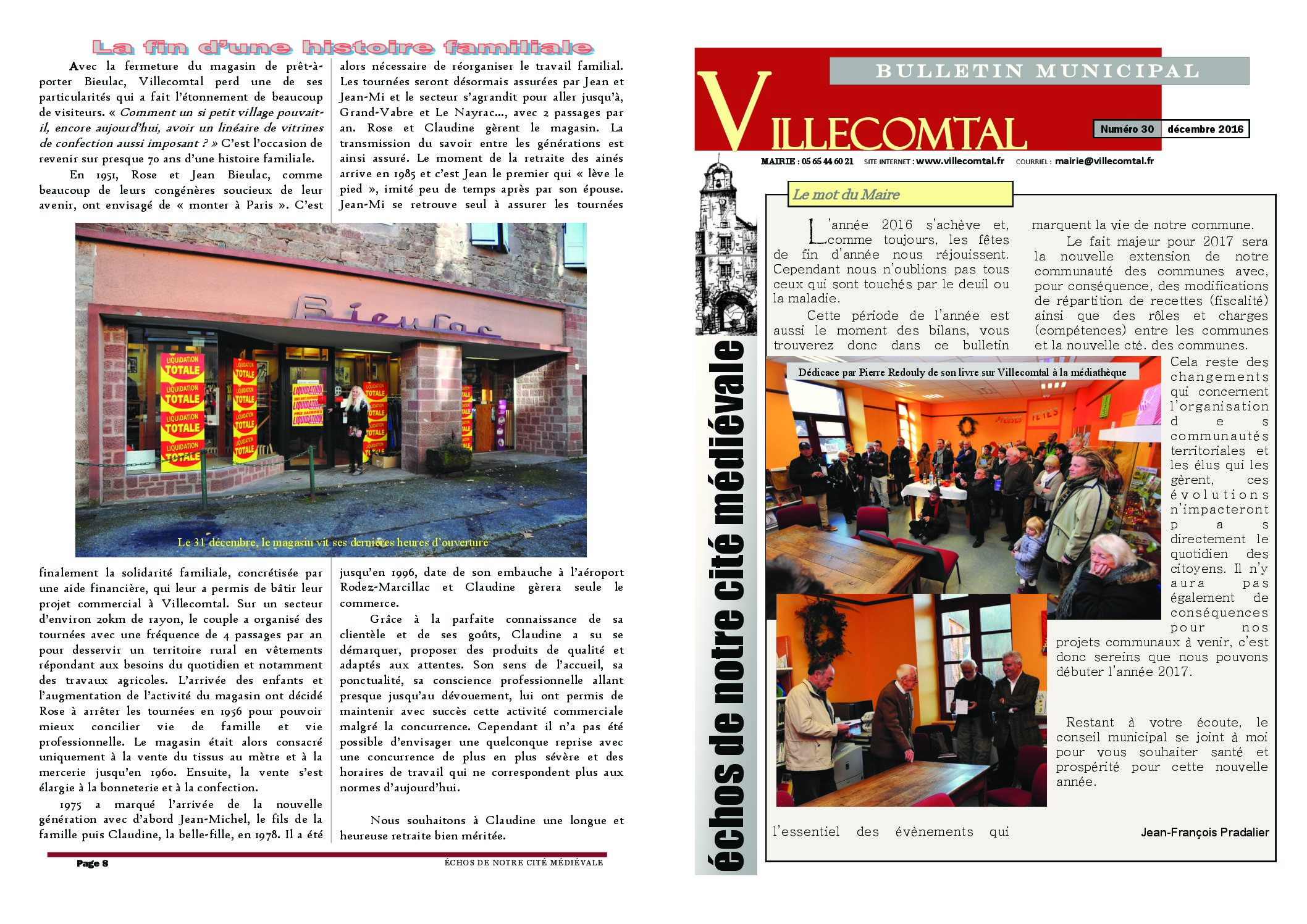 Bulletin municipal n°30
