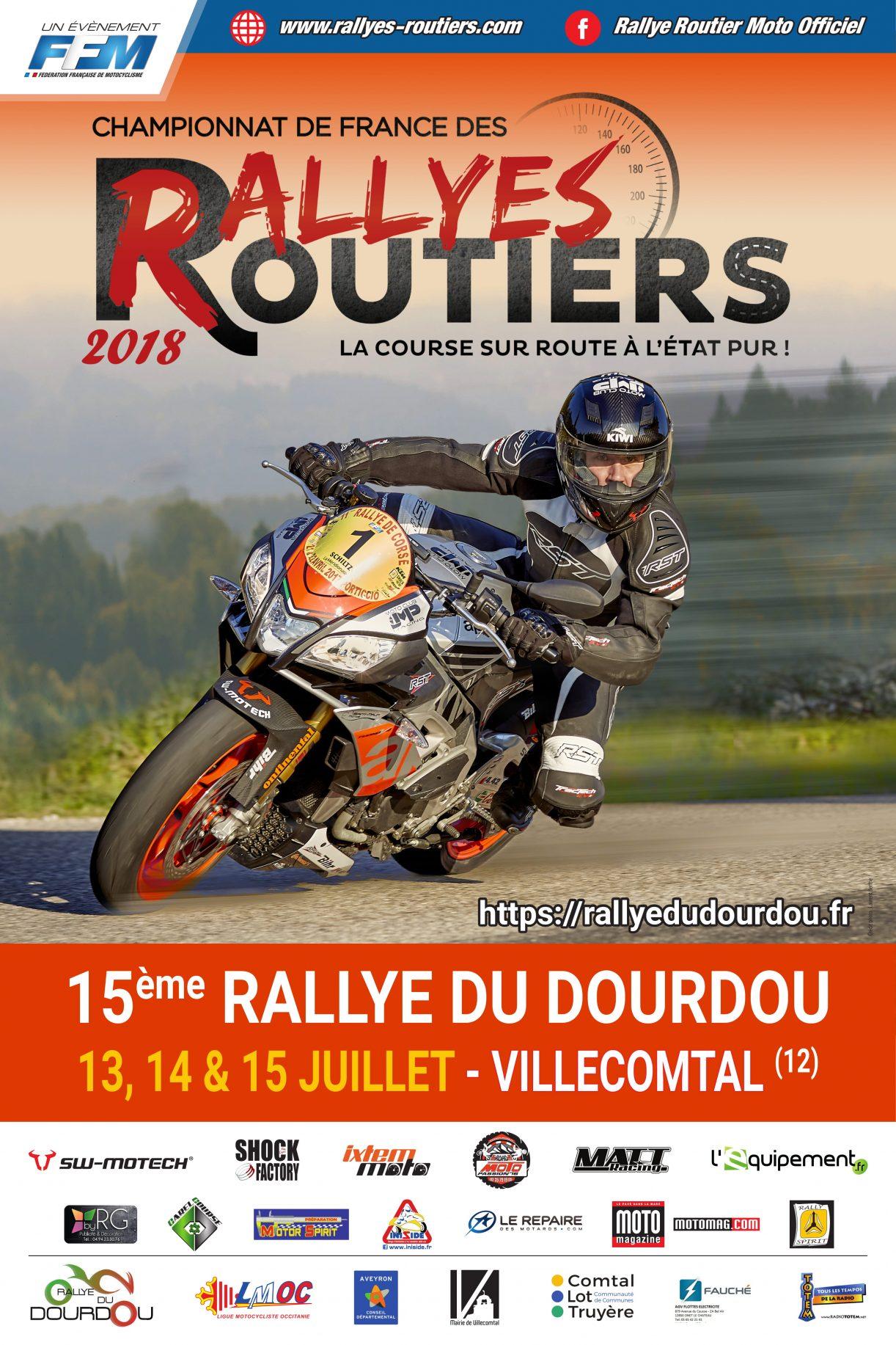 Affiche Rallye du Dourdou 2018
