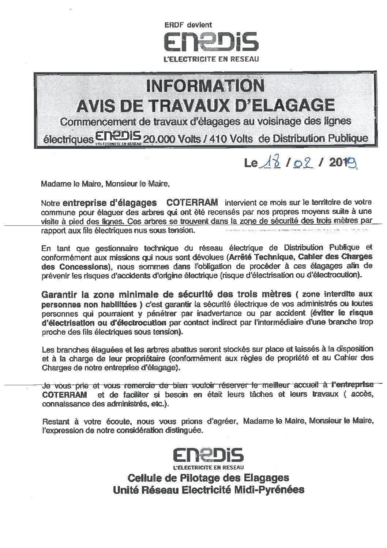 Travaux d'élaguage entreprise COTTERAM Villecomtal