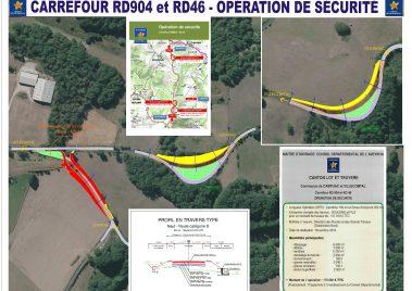 Travaux sur la RD904/RD46