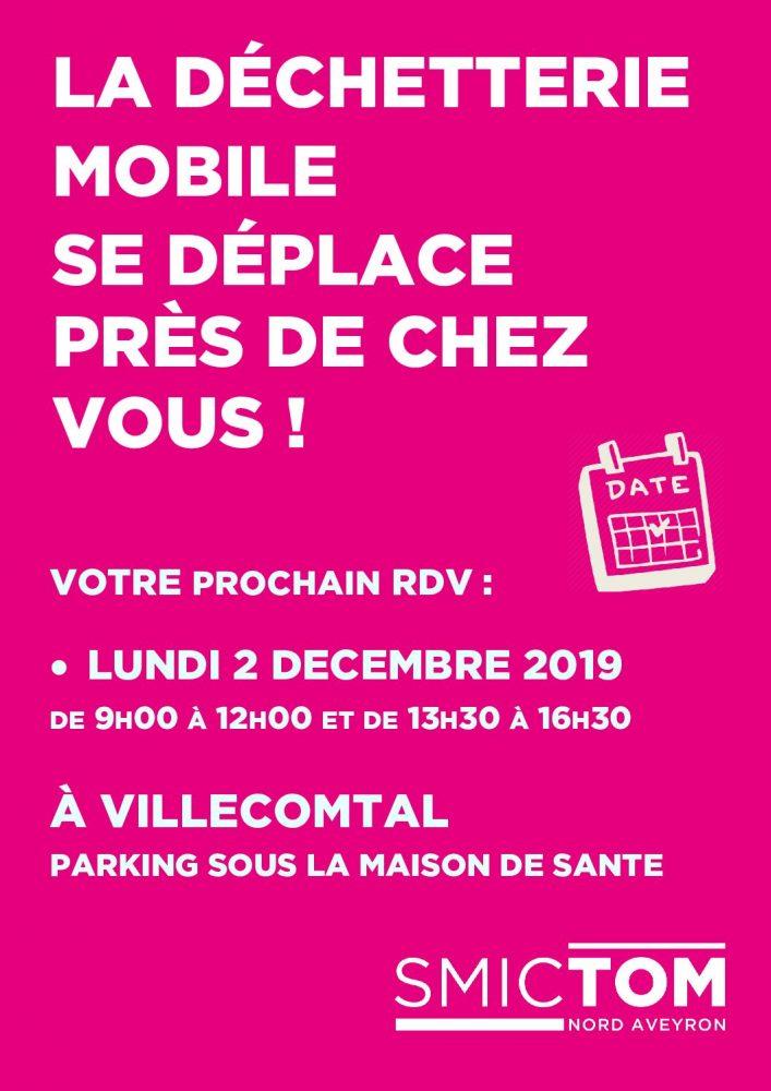 La dechetterie du SMICTOM Nord Aveyron se déplace à Villecomtal