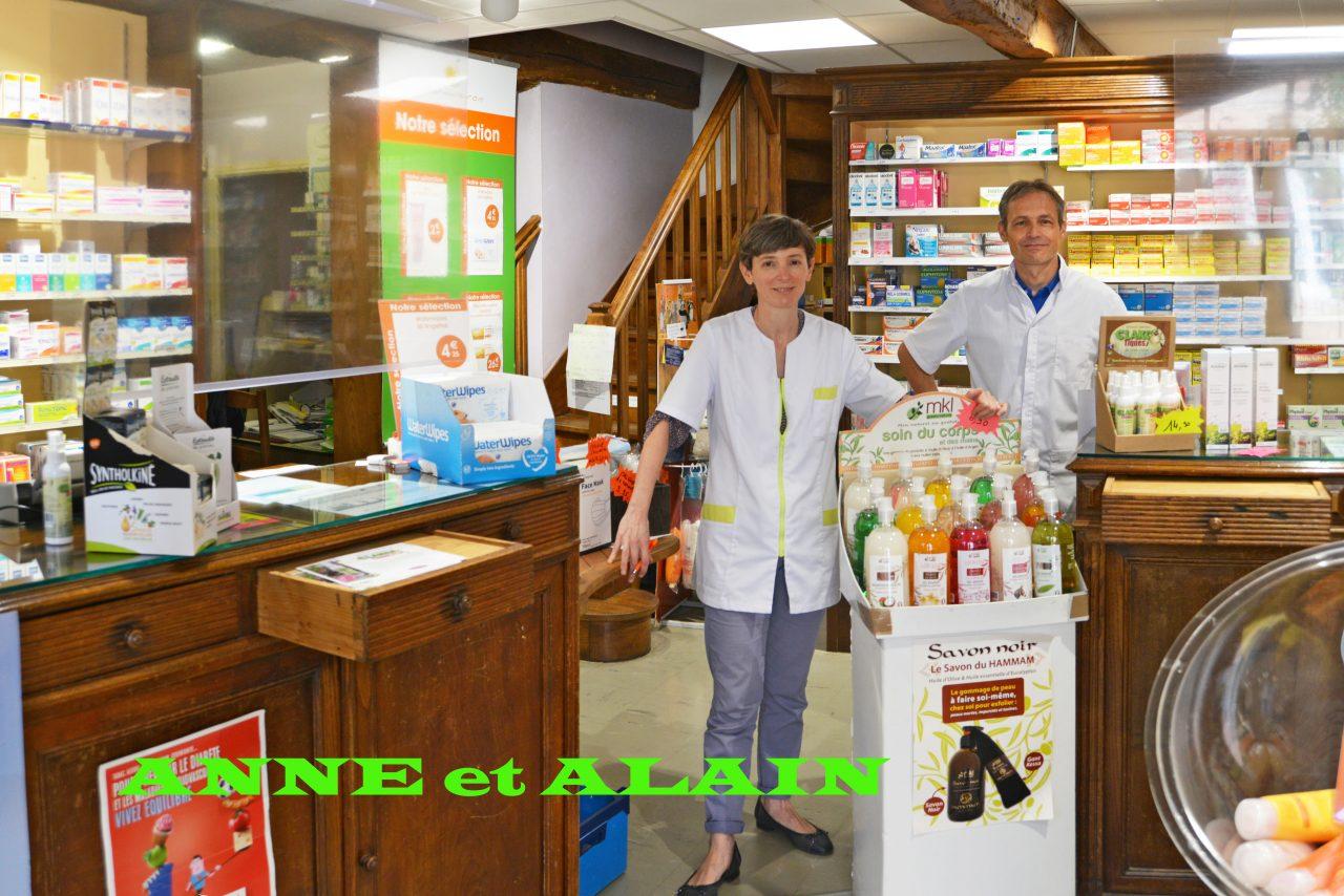 Anne Philoreau et Alain Redon, pharmaciens