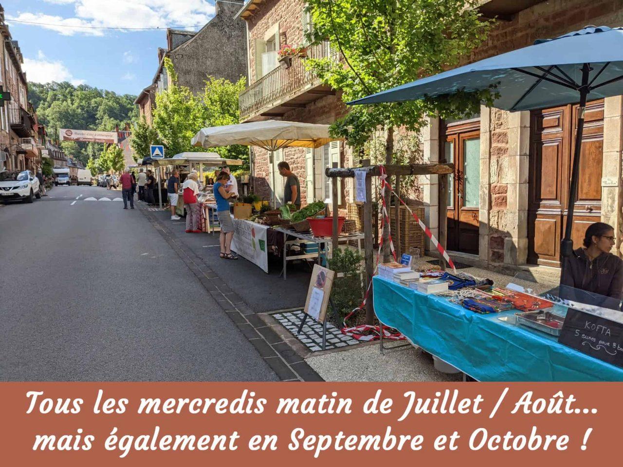 Marché des producteurs à Villecomtal